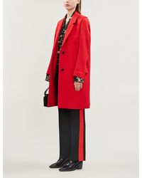 Zadig & Voltaire Marla Relaxed Wool-blend Coat - Red