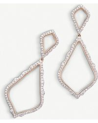 Kendra Scott Alexa 14ct Rose-gold And Diamond Earrings - Metallic