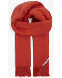 Acne Studios Canada Tasselled Wool Scarf - Red