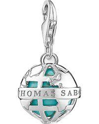 Thomas Sabo - Globe Sterling Silver Charm - Lyst
