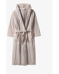 The White Company Hooded Velour Robe - Multicolor
