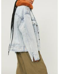Levi's - Faux-fur Collar Denim Jacket - Lyst