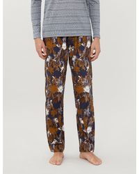 Zimmerli Light Magic Floral-print Cotton Pyjama Trousers - Multicolour