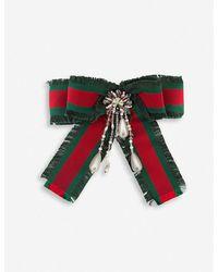 Gucci Web Bow Brooch - Multicolour