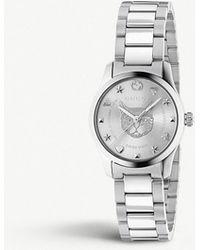 cd52edda8ab Lyst - Gucci Ya134502 Ssima Stainless Steel Watch in Metallic