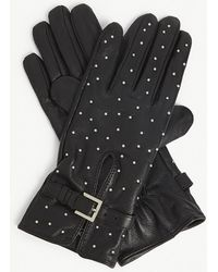 The Kooples - Studded Leather Gloves - Lyst