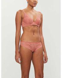 Passionata Holala Lace Plunge Bra - Pink