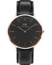 Daniel Wellington Classic Sheffield Rose Gold Watch - Black