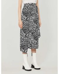 TOPSHOP Black And White Animal Print Sarong