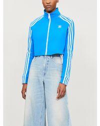 adidas Originals - Side-stripe Stretch-jersey Jacket - Lyst