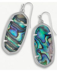 Kendra Scott - Elle Rhodium-plated And Abalone Shell Earrings - Lyst