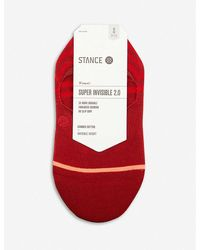 Stance Super Invisible 2.0 Combed Cotton Socks - Red
