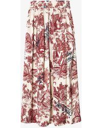 Zadig & Voltaire Jue Graphic-print Satin Skirt - Multicolour