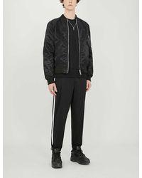 BOY London Mens Black Reversible Logo-print Bomber Jacket Xs