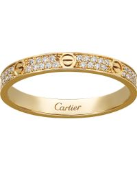 Cartier - Love 18ct Yellow-gold And Diamond Ring - Lyst