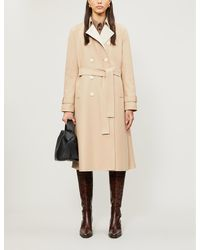 Harris Wharf London Double-breasted Pressed-wool Coat - Natural