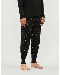 Polo Ralph Lauren Pony-print Cotton-jersey Pajama Bottoms - Black