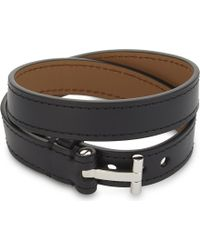 Tom Ford - Leather Double Wrap Bracelet - Lyst