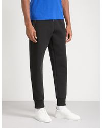 BOSS Green - Contrast-trim Cotton-jersey Jogging Bottoms - Lyst