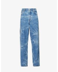 Dries Van Noten Pine Relaxed-fit Straight Jeans - Blue