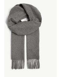 Johnstons Cashmere Scarf - Gray