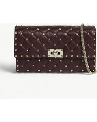 Valentino - Rockstud Quilted Leather Cross-body Bag - Lyst