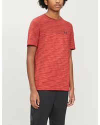 Under Armour Vanish Seamless Stretch-jersey T-shirt - Red