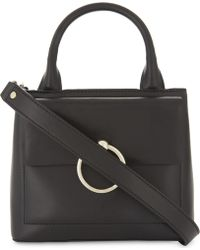 Claudie Pierlot Anouck Small Leather And Suede Shoulder Bag - Black