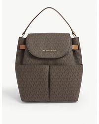 MICHAEL Michael Kors Bedford Pebbled Leather Backpack - Multicolour