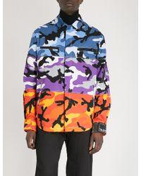 Valentino - Multi-coloured Camouflage-print Cotton-twill Jacket - Lyst
