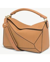 Loewe - Ladies Light Caramel Brown Puzzle Leather Shoulder Bag - Lyst