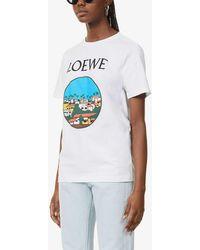 Loewe X Ken Price Printed Cotton-jersey T-shirt - White