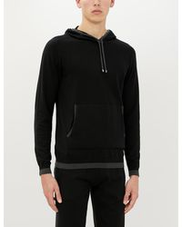 Zimmerli Cotton And Cashmere-blend Hoody - Black