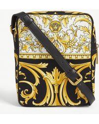 Versace Baroque Print Canvas Messenger Bag - Multicolour