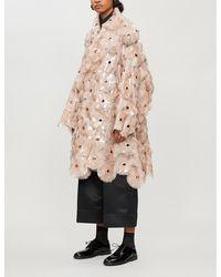 Noir Kei Ninomiya Eyelet-embellished Pyc Coat - Natural