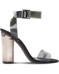 Steve Madden - Open-toe Transparent Sandals - Lyst