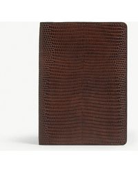 The Case Factory - Lizard Print Leather Passport Cover - Lyst