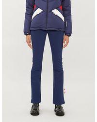 Perfect Moment Aurora High-rise Shell Flared Ski Trousers - Blue