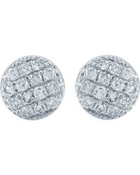 The Alkemistry - 14ct White Gold And Diamond Disc Earrings - Lyst