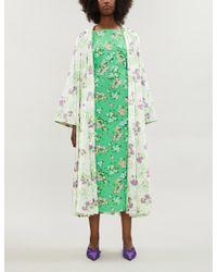 BERNADETTE Monica Floral-print Stretch-jersey Skirt - Green