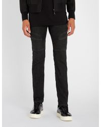 Neil Barrett - Biker-patch Slim-fit Straight Jeans - Lyst