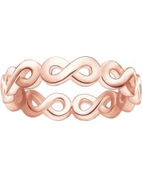Thomas Sabo - Infinity 18ct Rose Gold-plated Ring - Lyst