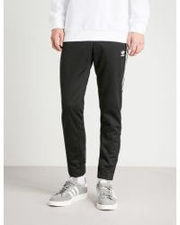 adidas - Snap-fastening Sports-jersey Jogging Bottoms - Lyst