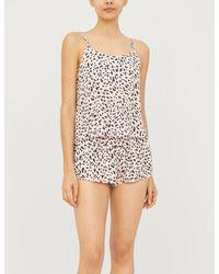 Les Girls, Les Boys Leopard-print Woven Shorts - Multicolour