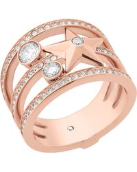 Michael Kors - Celestial Rose Gold-toned Ring - Lyst