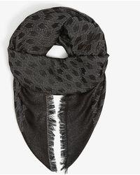 Maje Ezzate Cotton-blend Scarf - Black