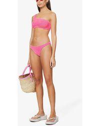 Hunza G Nancy One-shoulder Bikini Set - Pink