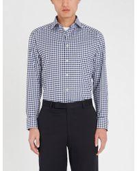 Eton of Sweden - Gingham-check Slim-fit Cotton Shirt - Lyst