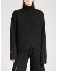 Mo&co. | Turtleneck Wool-blend Jumper | Lyst