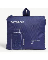 Samsonite Xl Foldable luggage Cover - Blue